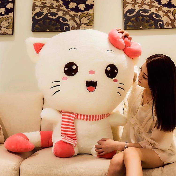 玩偶 可愛貓咪毛絨玩具布娃娃大玩偶公仔抱著睡覺床上抱枕生日禮物女生
