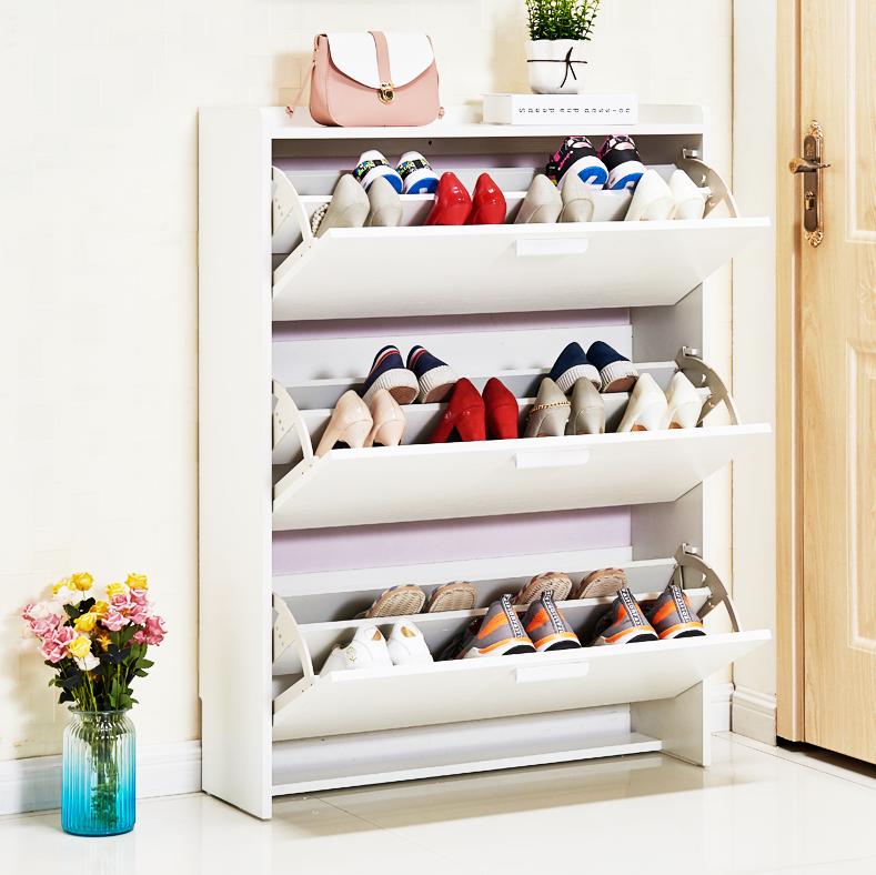 鞋櫃 雙層24厚70長107高 翻鬥超薄鞋櫃 鞋架 簡約現代 白色 家用經濟型省空間門廳櫃簡易鞋櫃