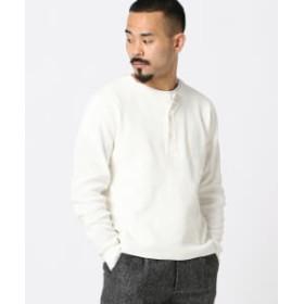 BEAMS PLUS REMI RELIEF × BEAMS PLUS / 別注 サーマル ロング ヘンリーネック メンズ Tシャツ OFF WHT XL