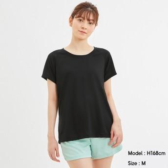 (GU)スポーツT(半袖)GA BLACK M