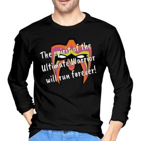 Tシャツ Man アルティメット・ウォリアー 長袖 カットソー ストレッチ 部屋着 ラウンドネック 春秋冬 通気性 かっこいい サイズ有り
