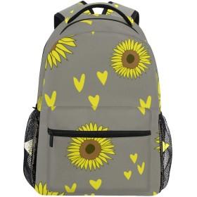MISCERYリュックサック,シームレスな灰色の太陽の花のパターンベクトル,大容量の学生の子供のバックパックの若者の男性と女性は、ファッション性格カスタムパターン旅行バッグ耐久性のあるスポーツアウトドアを