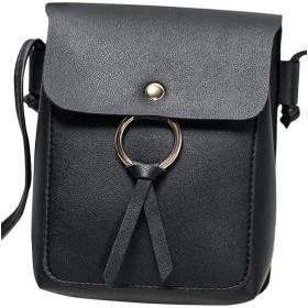 Plus Nao(プラスナオ) ポシェット 斜め掛けバッグ ショルダーバッグ ショルダーバック レディース 鞄 カバン BAG シンプル きれいめ 上品 - ブラック