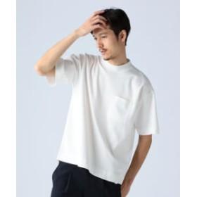 BEAMS LIGHTS 【予約】BEAMS LIGHTS / ボトルネック ポンチ Tシャツ メンズ Tシャツ WHITE S
