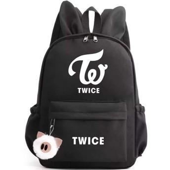 Keyolet 男女兼用 人気 TWICE リュック SEVENTEEN GOT7 設計感 可愛い バックパック ライブ 応援 商品 KPOP 誕生日 プレゼント BK