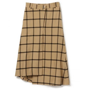 Demi-Luxe BEAMS Rito / アシンメトリー スカート レディース マキシ・ロング丈スカート BEIGE 38