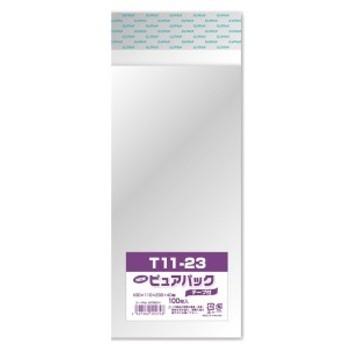 エスティシー 透明 袋 ピュアパック テープ付 T11-23 100枚入