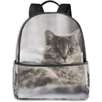 横たわっている猫 リュック バックパックリュックサック 大容量 PCバッグ レジャーバッグ 旅行カバン 登山リュック ビジネスリュック ユニセックス おしゃれ 人気