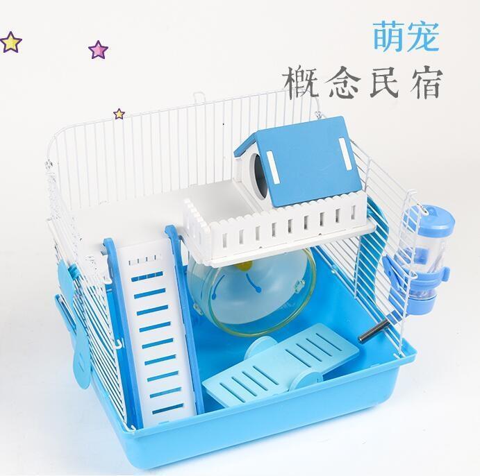 倉鼠籠-倉鼠籠子倉鼠籠用品基礎籠壓克力金絲熊窩別墅倉鼠單雙層套餐