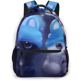 リュック リュックサック 猫 ツイン かわいい メンズ レディース 登山 大容量 絵柄付き バックパック 鞄 バッグ 軽量 おしゃれ カジュアル 多収納