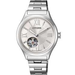 CITIZEN Ladies 鏤空機械錶(PC1001-53A)