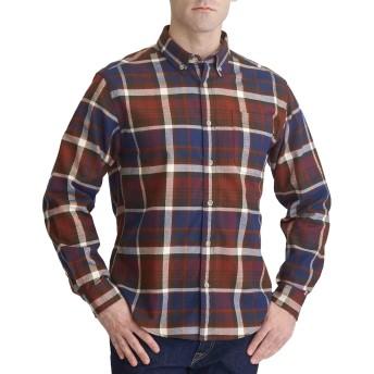 メンズ メンズ 長袖エフランネルボタンダウンシャツ Eddie Bauer(エディー・バウアー)