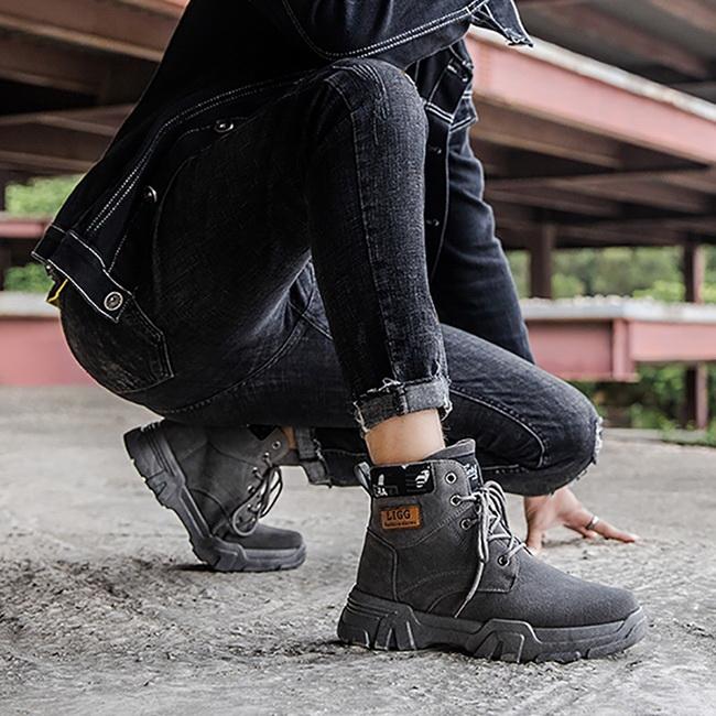 FOFU-馬丁靴潮流百搭戶外個性潮流高筒靴馬丁靴【08B-S0392】