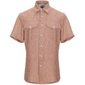 《セール開催中》BRUNELLO CUCINELLI メンズ シャツ ブラウン M リネン 100% / コットン