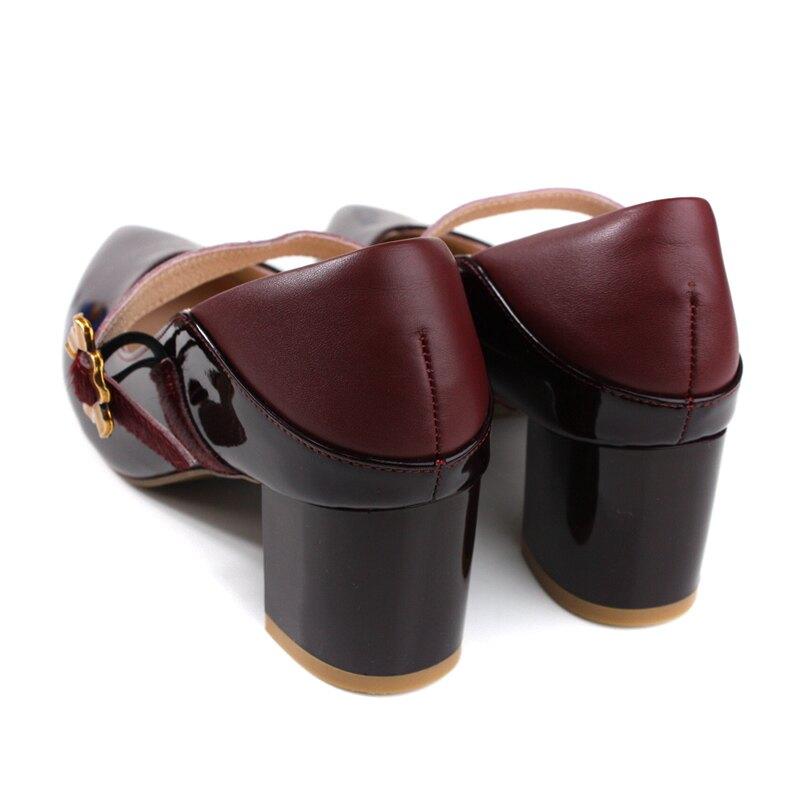 HUMAN PEACE 跟鞋 娃娃鞋 尖頭 酒紅色 女鞋 084523SB no328