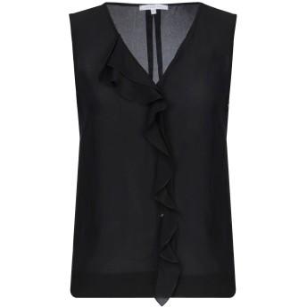 《セール開催中》PATRIZIA PEPE レディース シャツ ブラック 40 シルク 100%