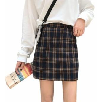 【送料無料】チェック柄 秋 カジュアル トップス レディース ニット 防寒 保温 保湿 スカート 女性