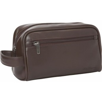 ベンシャーマン Ben Sherman Luggage メンズ ポーチ Mayfair Collection Single Compartment Top Zip Travel Kit Brown