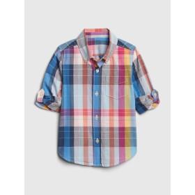 Gap ポプリンチェック コンバーチブルシャツ (幼児)
