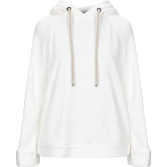 《セール開催中》BRUNELLO CUCINELLI レディース スウェットシャツ ホワイト S リネン 69% / コットン 31%