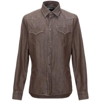 《セール開催中》BRUNELLO CUCINELLI メンズ シャツ ブラウン S コットン 100%