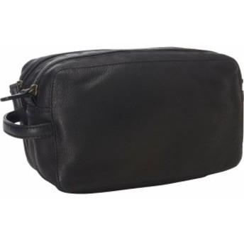 デレクアレクサンダー Derek Alexander メンズ ポーチ Two Top Zip Travel Kit Black
