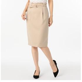 【NOLLEY'S:スカート】サテンカルゼベルト付きスカート