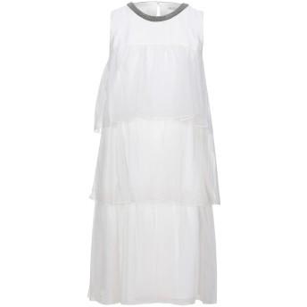 《セール開催中》BRUNELLO CUCINELLI レディース ミニワンピース&ドレス ホワイト L シルク 100%