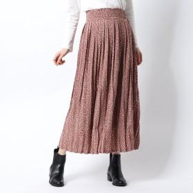 コカ coca ヒョウ柄プリーツスカート (Pink)