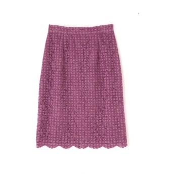 【プロポーションボディドレッシング/PROPORTION BODY DRESSING】 OTLチェックフロッキーレースタイトスカート