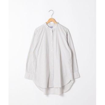 コーエン ブロードバンドカラーロングシャツ(バンドカラーシャツ)# レディース LTGRAY FREE 【coen】