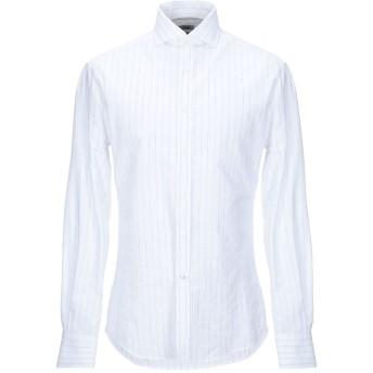 《セール開催中》BRUNELLO CUCINELLI メンズ シャツ ホワイト M コットン 97% / レーヨン 2% / ナイロン 1%