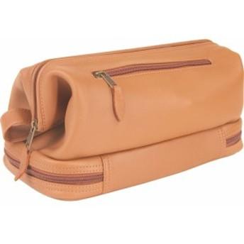 ルイスレザー Royce Leather メンズ ポーチ トイレタリーバッグ Toiletry Bag w/Zippered Bottom Compartment Tan
