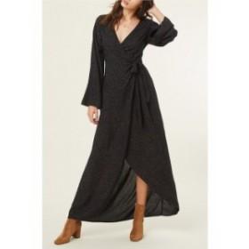 オニール レディース ワンピース トップス Liya Wrap Maxi Dress Black