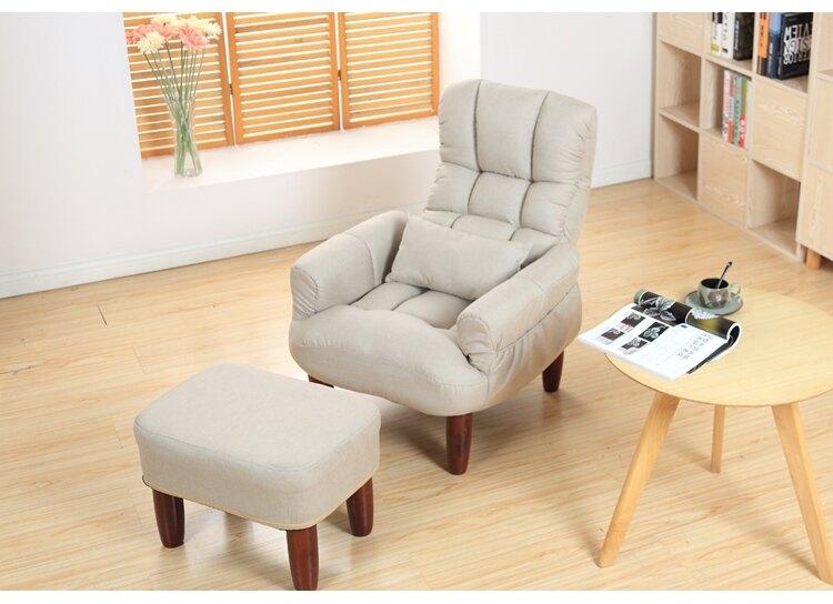 懶人沙髮日式懶人沙髮單人布藝休閒榻榻米電視電腦椅午休孕婦哺乳椅老人椅