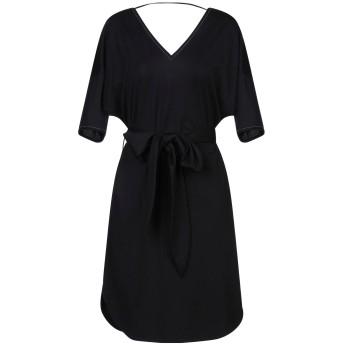 《セール開催中》BRUNELLO CUCINELLI レディース ミニワンピース&ドレス ブラック M コットン 100% / 真鍮/ブラス