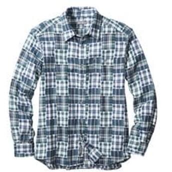 メンズ メンズ ダブルクロスパターンシャツ ブルー系 Eddie Bauer(エディー・バウアー)