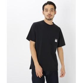 ベースステーション ピーナッツ PEANUTS 別注 スヌーピー バックプリント 半袖 Tシャツ メンズ ブラック(019) 01(S) 【BASE STATION】