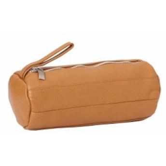 ピエール Piel レディース ポーチ 化粧ポーチ Leather Cylinder Cosmetic Bag Saddle