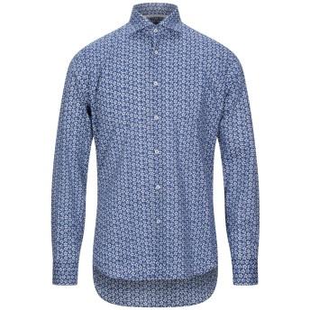 《セール開催中》WEBB & SCOTT CO. メンズ シャツ ダークブルー 39 コットン 97% / ポリウレタン 3%