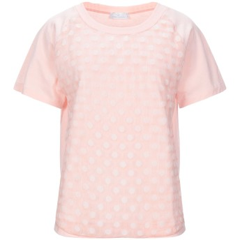 《セール開催中》GIANNI CUCCUINI レディース T シャツ ピンク 40 コットン 100% / シルク / ナイロン