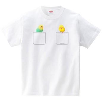 [itaxes] ぽけインコ4(Pocket Inco)(Tシャツ・ホワイト)(XLサイズ) (イシイミホ)