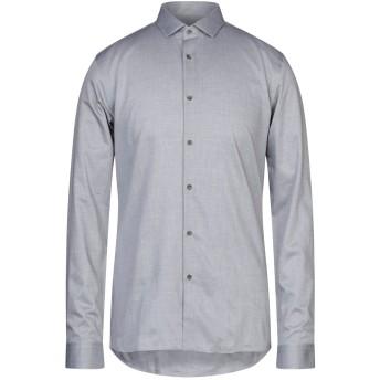 《セール開催中》HUGO HUGO BOSS メンズ シャツ 鉛色 38 コットン 100%