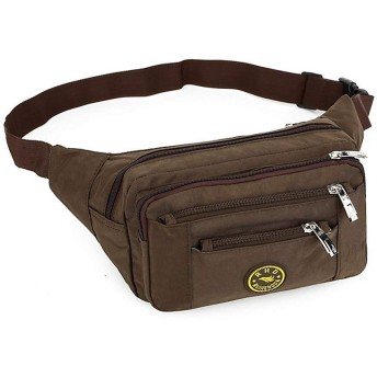 バッグを実行しているスポーツバッグウェアラブル布クライミングフィッシングハイキングを実行するためのファニーパックウエストバッグ/ウエストパック・チェストバッグ1 L,褐色