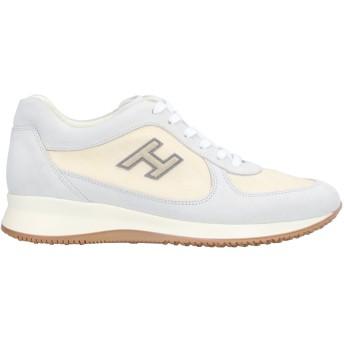 《セール開催中》HOGAN メンズ スニーカー&テニスシューズ(ローカット) ライトグレー 8.5 革 / 紡績繊維
