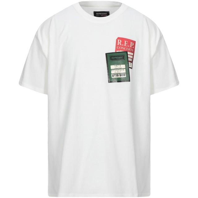 《セール開催中》REPRESENT メンズ T シャツ ホワイト M コットン 100%