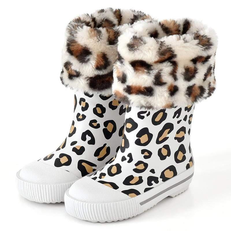 雨靴-愛時尚(豹紋白) EUR 24