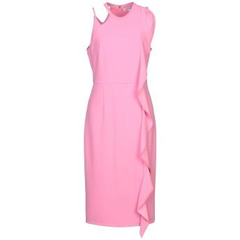 《セール開催中》SILVIAN HEACH レディース 7分丈ワンピース・ドレス ピンク M ポリエステル 95% / ポリウレタン 5%