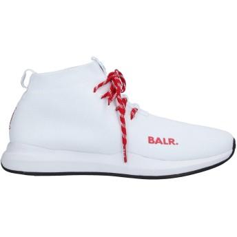 《セール開催中》BALR. メンズ スニーカー&テニスシューズ(ハイカット) ホワイト 42 紡績繊維