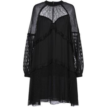 《セール開催中》PINKO レディース ミニワンピース&ドレス ブラック 38 レーヨン 100% / ポリエステル / ナイロン